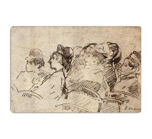 At the Theater by Manet HD Metal Print