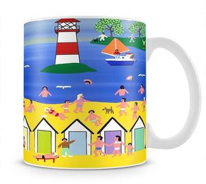 At the beach hut by Gordon Barker Mug - Canvas Art Rocks - 1