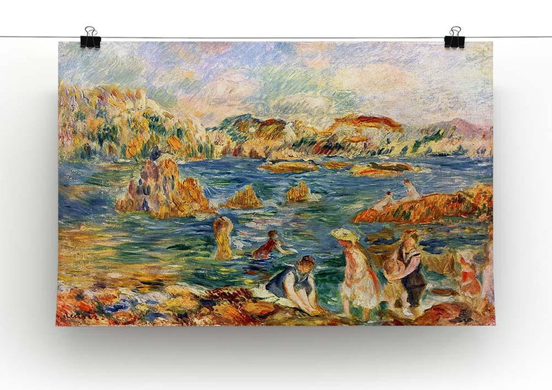 At the beach of Guernesey by Renoir Canvas Print or Poster - Canvas Art Rocks - 2