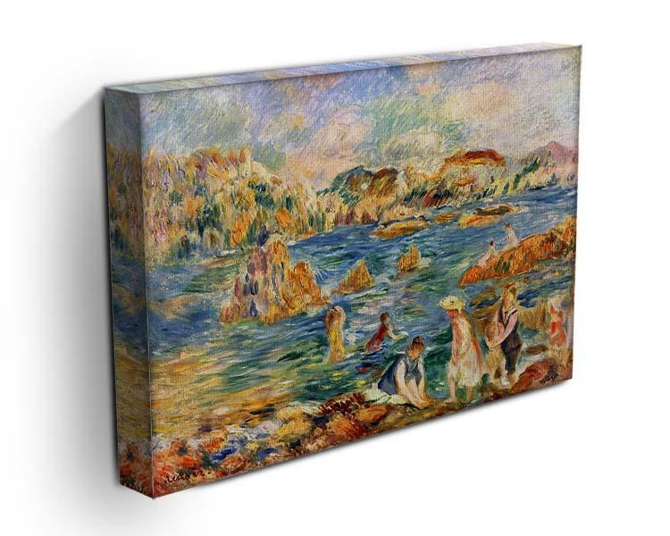 At the beach of Guernesey by Renoir Canvas Print or Poster - Canvas Art Rocks - 3