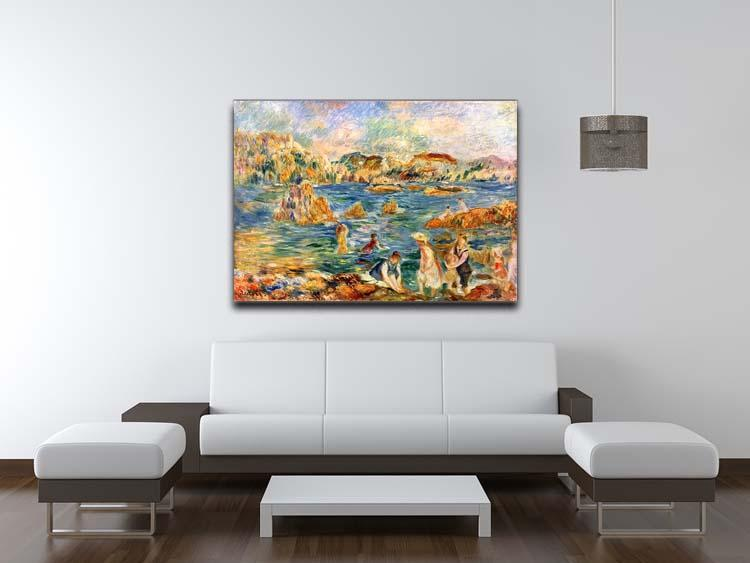 At the beach of Guernesey by Renoir Canvas Print or Poster - Canvas Art Rocks - 4