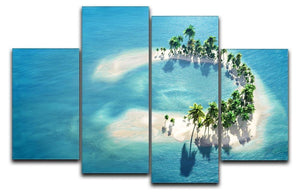 Atoll 4 Split Panel Canvas - Canvas Art Rocks - 1