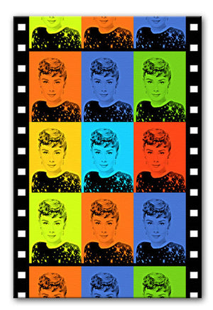 Audrey Hepburn Pop Art Print - Canvas Art Rocks - 1