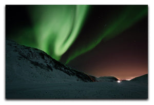 Aurora Mountains Canvas Print - Canvas Art Rocks - 1