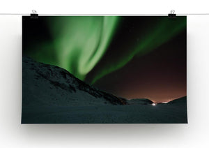 Aurora Mountains Canvas Print - Canvas Art Rocks - 2