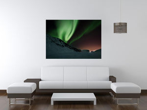 Aurora Mountains Canvas Print - Canvas Art Rocks - 4