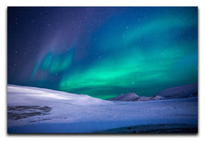 Aurora Snow Scene Print - Canvas Art Rocks - 1