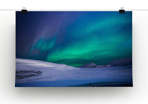 Aurora Snow Scene Print - Canvas Art Rocks - 2