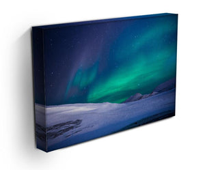Aurora Snow Scene Print - Canvas Art Rocks - 3