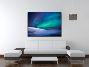 Aurora Snow Scene Print - Canvas Art Rocks - 4
