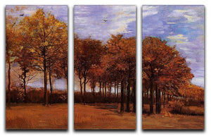 Autumn Landscape by Van Gogh 3 Split Panel Canvas Print - Canvas Art Rocks - 4