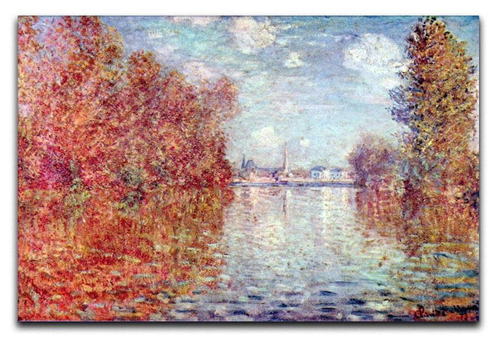Autumn in Argenteuil by Monet Canvas Print or Poster