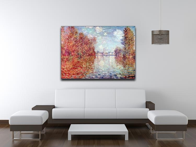 Autumn in Argenteuil by Monet Canvas Print & Poster - Canvas Art Rocks - 4