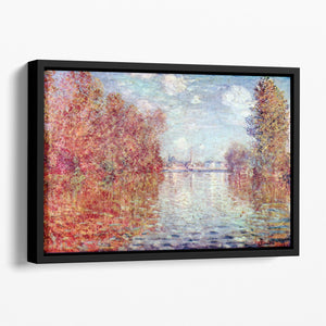 Autumn in Argenteuil by Monet Floating Framed Canvas