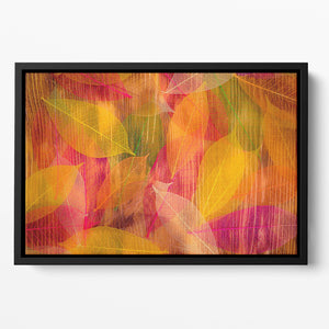 Autumn leaves texture Floating Framed Canvas