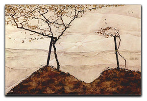 Autumn sun and trees by Egon Schiele Canvas Print or Poster - Canvas Art Rocks - 1