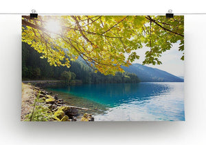 Autumn sun flare on lake Canvas Print or Poster - Canvas Art Rocks - 2