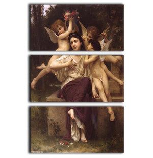Ave de printemps By Bouguereau 3 Split Panel Canvas Print - Canvas Art Rocks - 1
