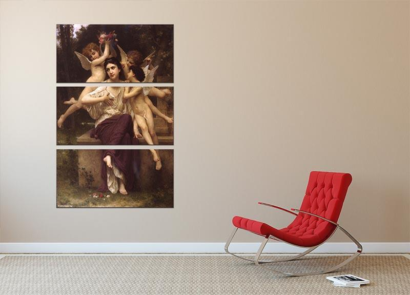Ave de printemps By Bouguereau 3 Split Panel Canvas Print - Canvas Art Rocks - 2
