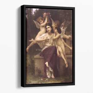 Ave de printemps By Bouguereau Floating Framed Canvas