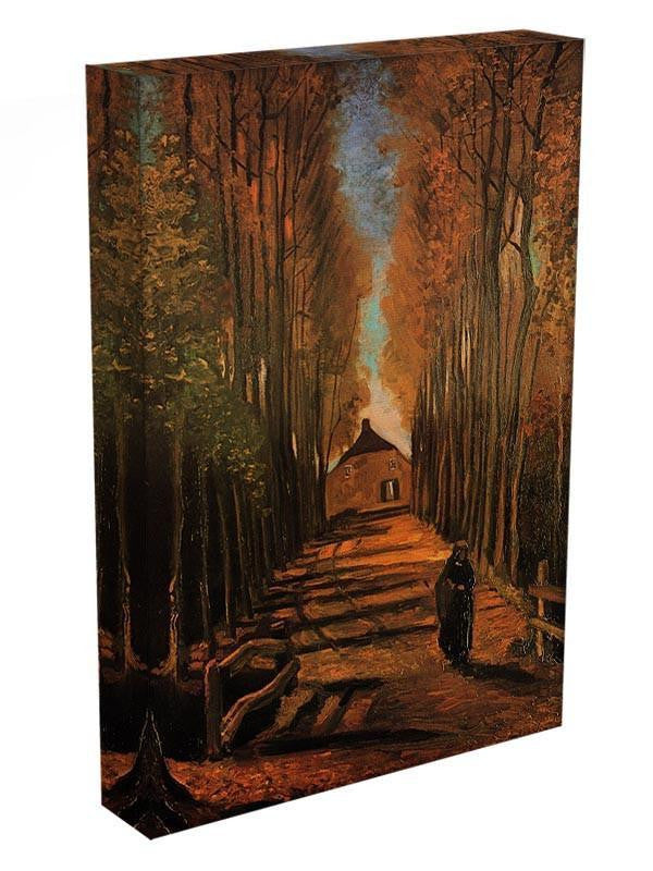Avenue of Poplars in Autumn by Van Gogh Canvas Print & Poster - Canvas Art Rocks - 3