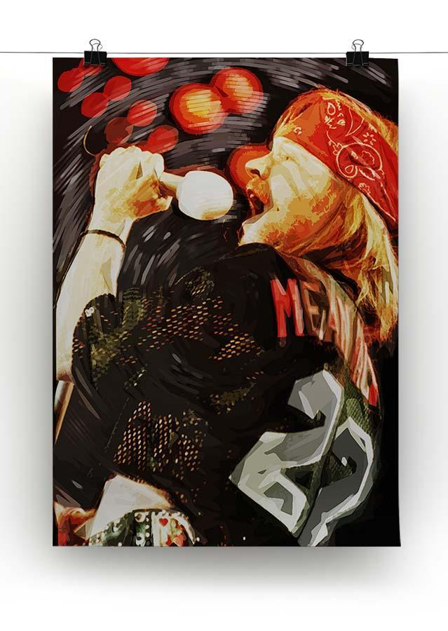Axl Rose Guns and Roses Canvas Print or Poster - Canvas Art Rocks - 2
