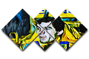 Ayrton Senna 4 Square Multi Panel Canvas  - Canvas Art Rocks - 1