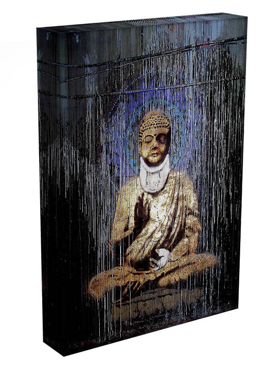 Banksy Injured Buddha Print - Canvas Art Rocks - 3