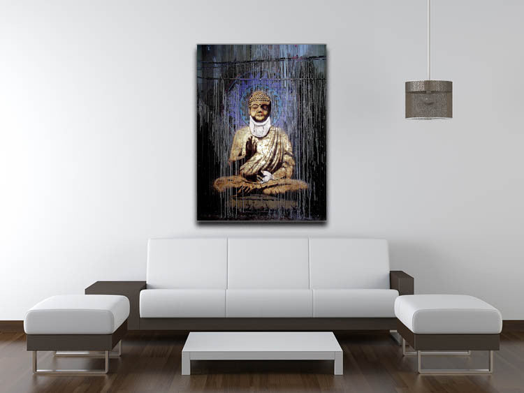 Banksy Injured Buddha Print - Canvas Art Rocks - 4