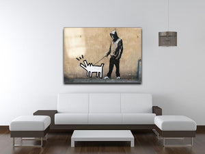 Banksy Keith Haring Dog Print - Canvas Art Rocks - 4