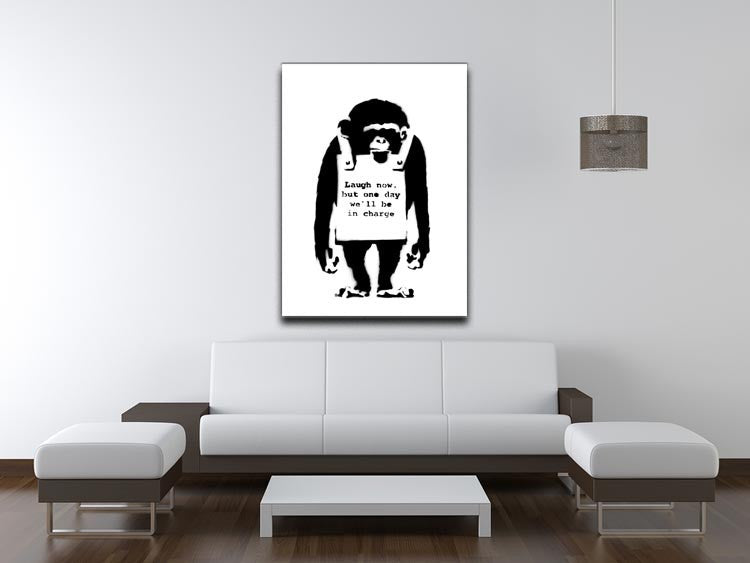 Banksy Laugh Now Monkey Print - Canvas Art Rocks - 4