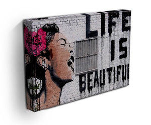 Banksy Life is Beautiful Print - Version 2 - Canvas Art Rocks - 3