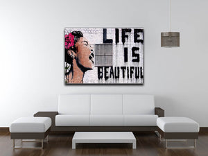 Banksy Life is Beautiful Print - Version 2 - Canvas Art Rocks - 4