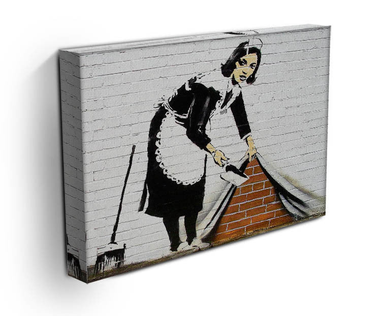 Banksy Maid Sweeping Under the Carpet Print - Canvas Art Rocks - 3