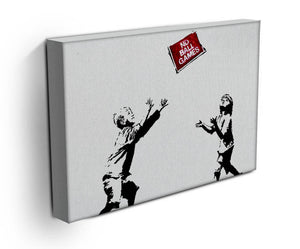 Banksy No Ball Games Print - Canvas Art Rocks - 3