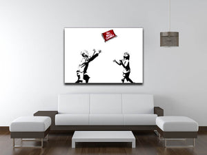 Banksy No Ball Games Print - Canvas Art Rocks - 4