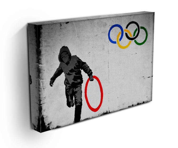 Banksy Olympic Rings Looter Print - Canvas Art Rocks - 2
