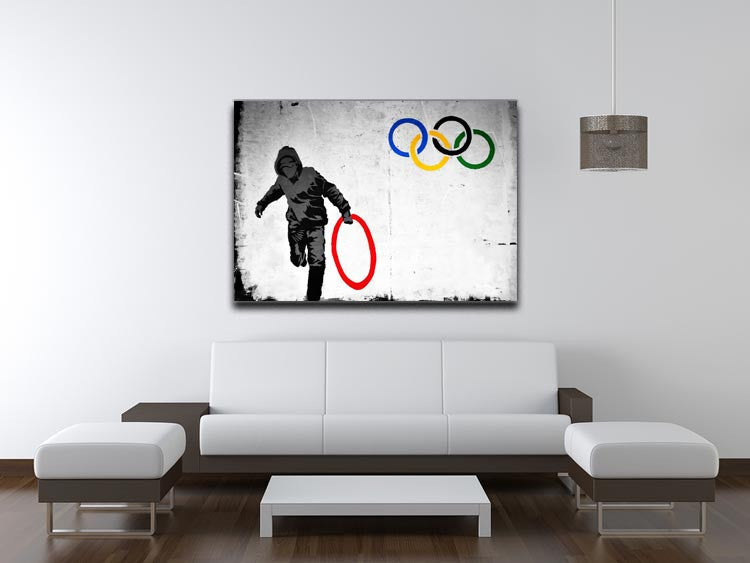 Banksy Olympic Rings Looter Print - Canvas Art Rocks - 4