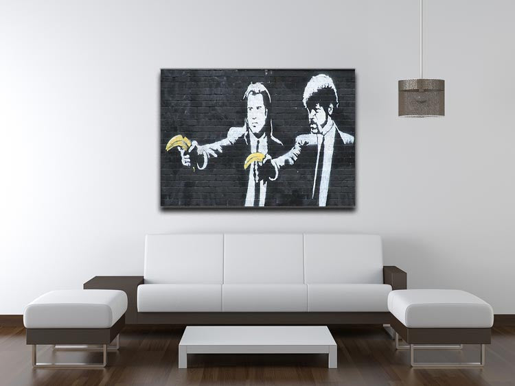 Banksy Pulp Fiction Banana Guns Print - Canvas Art Rocks - 4