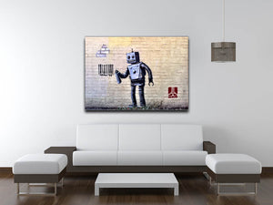 Banksy Robot Print - Canvas Art Rocks - 4