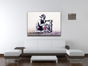 Banksy Slave Labour Print - Canvas Art Rocks - 4
