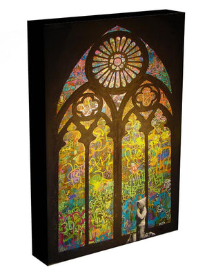 Banksy Stained Glass Window Print - Canvas Art Rocks - 3