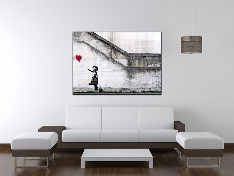 Banksy There is Always Hope Print - Canvas Art Rocks - 4