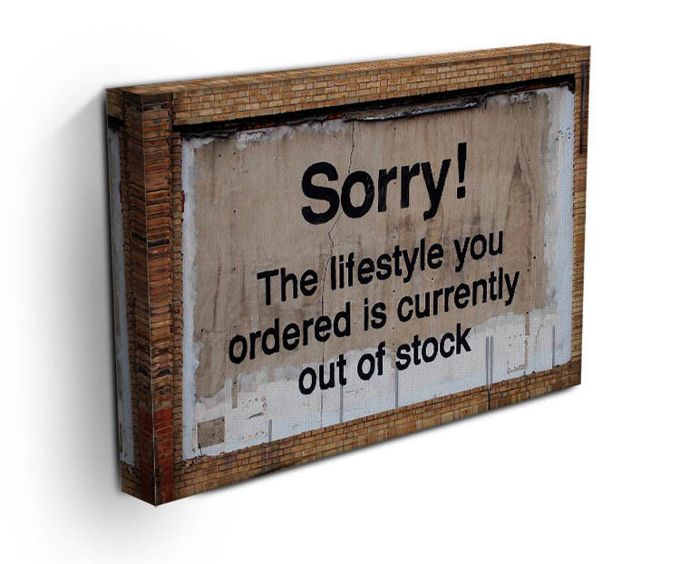 Banksy The Lifestyle You Ordered Print - Canvas Art Rocks - 3