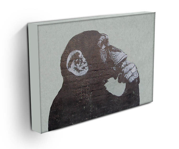 Banksy The Thinker Monkey Print - Canvas Art Rocks - 2