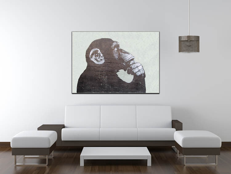 Banksy The Thinker Monkey Print - Canvas Art Rocks - 4