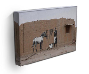 Banksy Washing Zebra Stripes Print - Canvas Art Rocks - 2