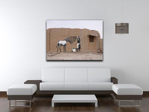 Banksy Washing Zebra Stripes Print - Canvas Art Rocks - 4