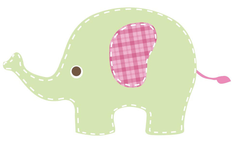 Baby Green Elephant Wall Decal - Canvas Art Rocks - 3