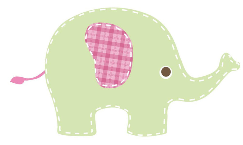 Baby Green Elephant Wall Decal - Canvas Art Rocks - 2